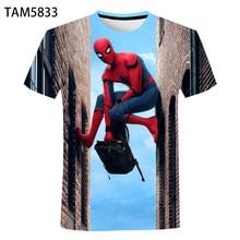 classic Anime Spider Men's / Women's Summer Short Sleeve T-Shirt 3D Cartoon Boys / Girls children's Street Trend Cute Top