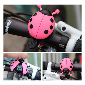 Bicycle Bell Ring Beetle Cartoon Cycling Bell Lovely Kids Ladybug Bell Ring for Bike Ride Horn Alarm bicycle Accessories(China)