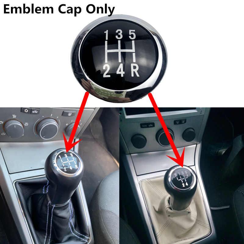 Perilla de palanca de cambios de velocidad 5/6, palanca de coche, cubierta con emblema superior, tapa para VAUXHALL OPEL ASTRA III H CORSA D 2004-2010, accesorios de estilo de coche