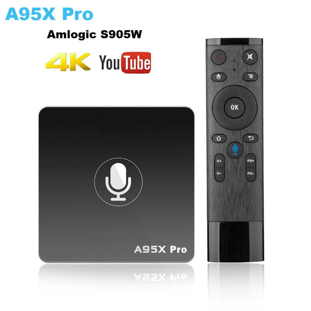 A95X Pro Tv Box Android Google Play Smart TV Box 2G 16G Android 7.1 Voice Control 2.4G WiFi PK H96MAX X96 4K HD 3D Android Box
