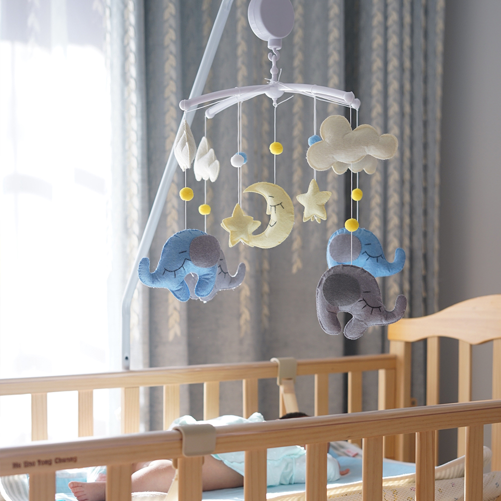 Baby Rattles Crib Mobiles Toy Holder Rotating Bed Hanging Bell Musical Box Arm Bracket Set 0-12 Months Newborn Infant Toy