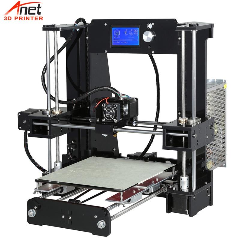 Anet Upgradest A6 Big Size High Precision Reprap Prusa i3 DIY 3D Printer Kit with Aluminium Hotbed & Filament & SD Card & LCD