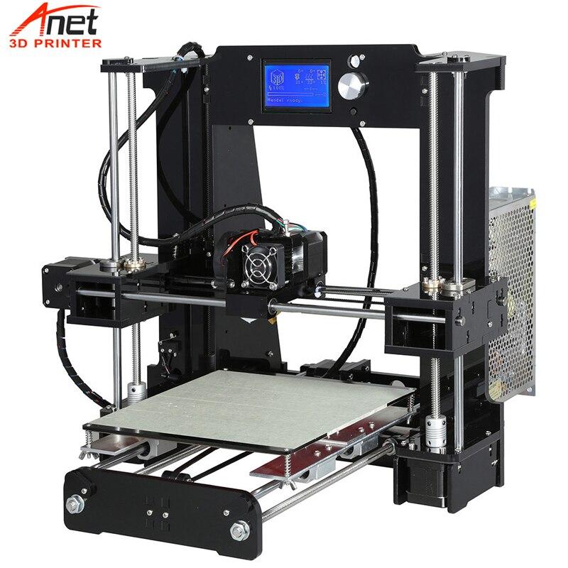 Nova venda quente anet a8 a6 desktop diy kit impressora 3d impresora 3d com micro cartão sd conexão usb eua ue russa tarifa gratuita