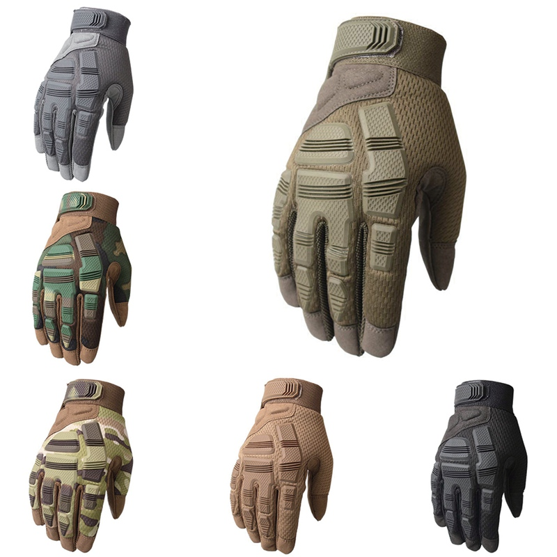 Touch Screen Tactical Gloves Army Military Combat Airsoft Outdoor Hiking Climbing Comfortable Anti slip Full Finger Glovese|Hiking Gloves| |  - title=