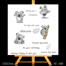 ZhuoAng Cute koala bear Clear Stamps/Card Making Holiday decorations For  scrapbooking Transparent stamps 13*13cm