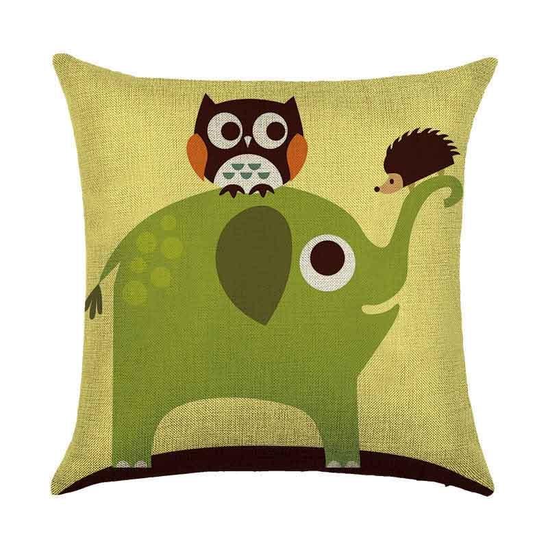Pillow Cushion Cover Case 45x45cm Elephant Home Decoration Durable For Sofa Car Office AC889