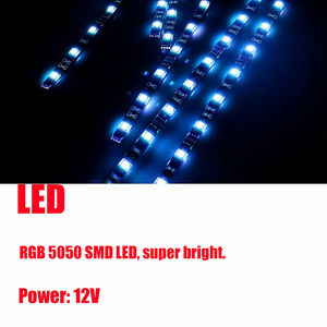 Image 3 - 6X Motorcycle LED Neon Strip Lamp Wireless RGB 18  colors Remote Control Under Glow Lights LED Car Decorative Light Strip Kits