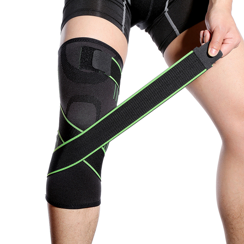 1 piece Running Cycling Sports Knee Pads Men Pressure Elastic Knee Support Fitness Gear Basketball Volleyball Brace Protector