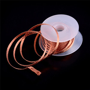 1.5m Length Copper Welding Wire 1.5/2.5/3.5mm Braid Welding Solder Remover Wick Wire Lead Cord 2% Flux for BGA Repair Tool