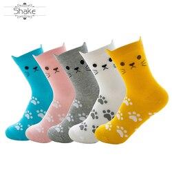 Aanpassen En Groothandel Mode Leuke Cartoon Kat Oor Kitty Stereo Oren Midden Buis Sokken Vrouwen Sokken Sokken