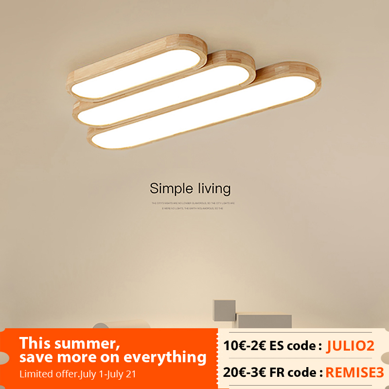 New Remote Control Minimalist Ceiling Lights Wooden Decorative Ceiling Lamps Panels For Living Room Bedroom Corridor Luminaire