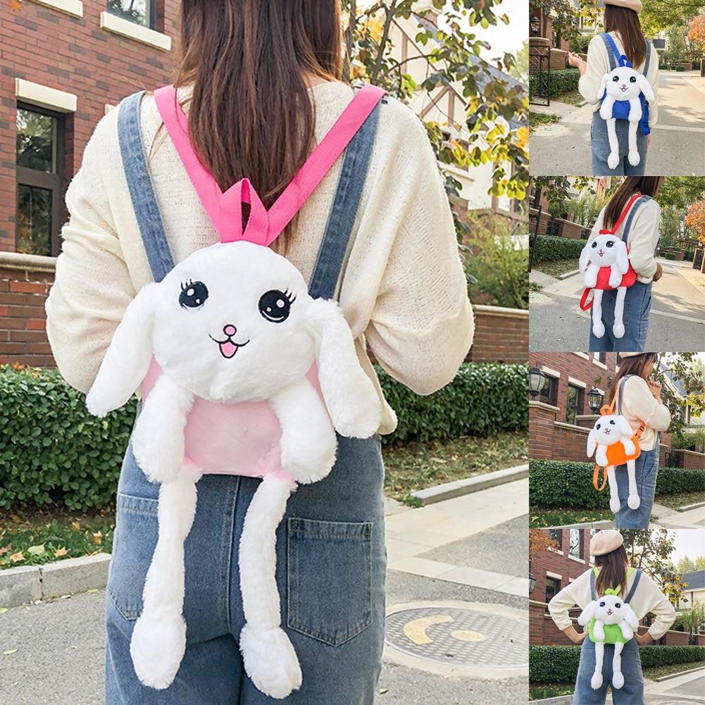 Светодиодный светящийся плюшевые игрушки и куклы из мультфильма сумка защемления уха для перемещения мультфильм кролик рюкзак для детей