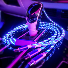 3 In1 Micro USB Cable For iPhone Samsung Android Led Lightin