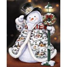 Рождественский кавайный Снеговик Алмазная картина на продажу