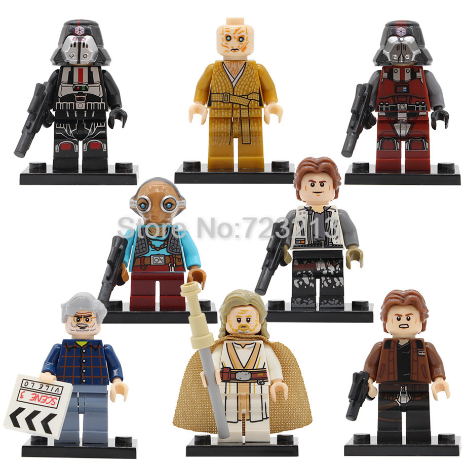 Star Wars Single Figure Luke George Lucas Snoke Maz Kanata Han Solo Sith Infantry Building Blocks Model Set Bricks Toys Legoing
