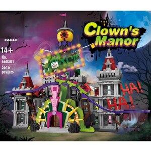 Lepining Creator Expert City Street View MOC The Joker Manor Park, модель 3329 шт, строительные блоки, кирпичи, Подарочные игрушки для детей