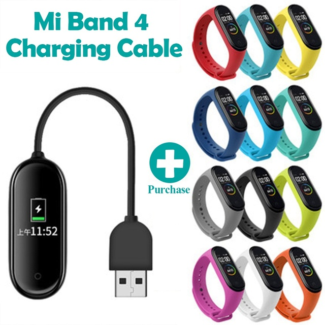 Charger For Xiaomi Mi Band 2 3 4 Charger/Cord/Cable Data Cradle Dock Charging Cable For MiBand 2 3 4 Charger USB Strap Bracelet