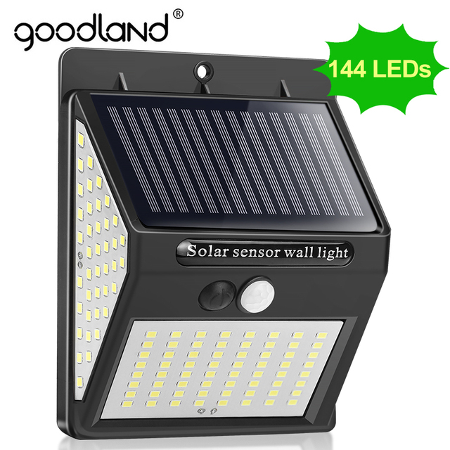 Goodland Outdoor LED Light 144 Outdoor Lighting Waterproof Street Lamp LED With PIR Motion Sensor LED Exterior for Garden Lights
