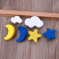 Children Room Knobs Soft Rubber Handles Star Moon Cloud Furniture Drawer Pulls|Cabinet Backplates| |  -