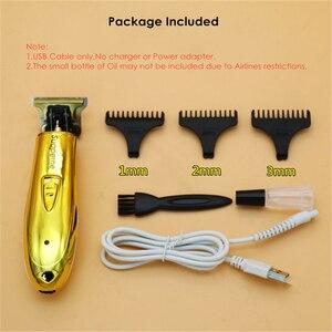 Image 5 - プロフェッショナルコードレスバリカン充電式電気毛トリマーひげシェーバー男性サロン理髪ヘアスタイリング切断機