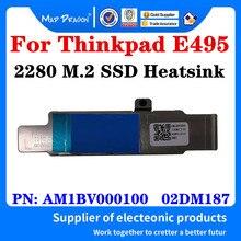Am1bv000100 02dm187 para lenovo thinkpad e495 nvme 2280 m. 2 carcasa para disco duro ssd com suporte de dissipador de calor