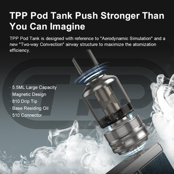VOOPOO – vaporisateur électronique Drag 3 177W, boîte Mod, réservoir dosettes 5.5ml TPP DM1 DM2, bobine, Original