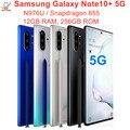 Оригинальный сотовый телефон Samsung Galaxy Note10 + Note10 Plus 5G N976U, 256 Гб ПЗУ, 12 Гб ОЗУ, Восьмиядерный процессор Snapdragon 6,8, 855 дюйма