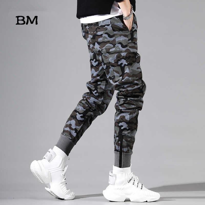迷彩カジュアルパンツストリート軍事スリムジョギングヒップホップ迷彩カーゴパンツ男性戦術的なパンツ韓国スタイル