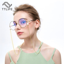 TTLIFE Eye Glasses Chain For Women Holder Cord Lanyard Necklace Reading Gold Beads Sunglasses YJHH0275