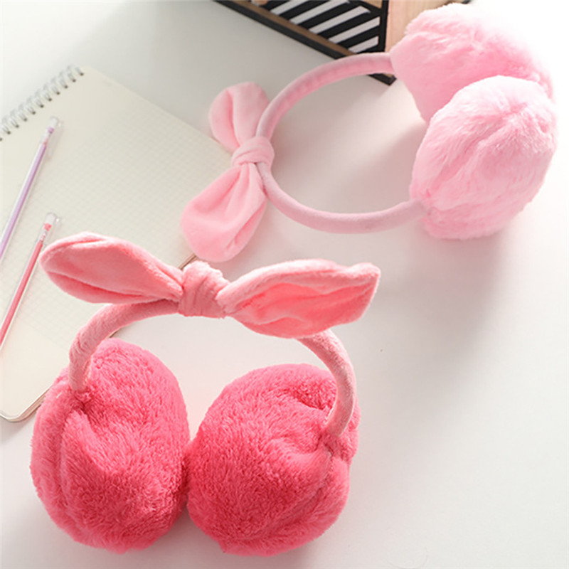 New Fashion Women Girl Fur Winter Ear Warmer Earmuffs Women Girls Warm Cute Rabbit Plush Plush Warmth Earmuffs Warmers CD