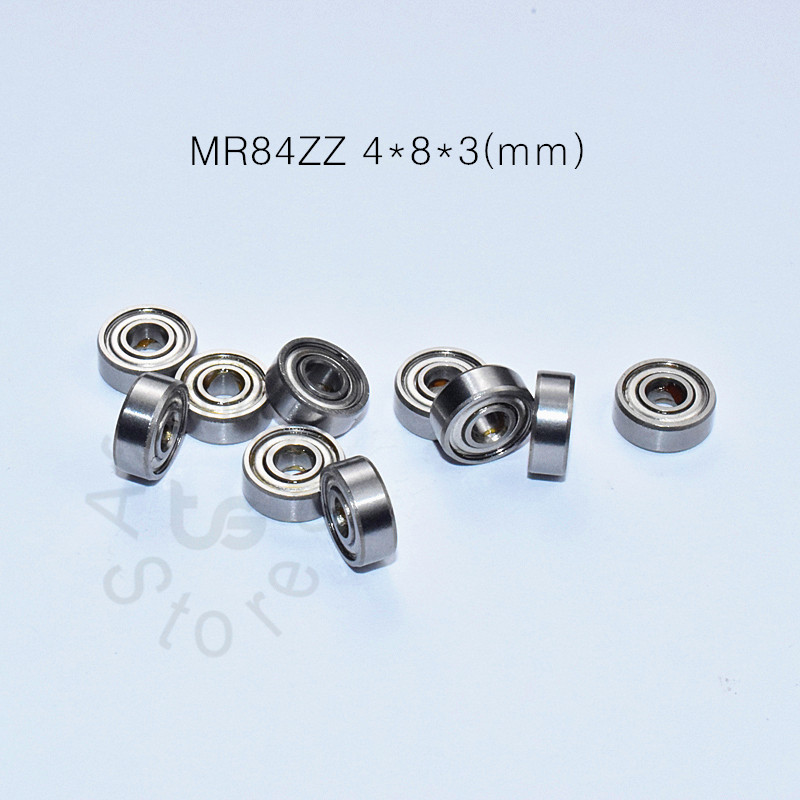 MR84ZZ 4*8*3(mm) 10pieces Bearing Free Shipping ABEC-5 Metal Sealed Miniature Mini Bearing MR84 MR84ZZ Chrome Steel  Bearing