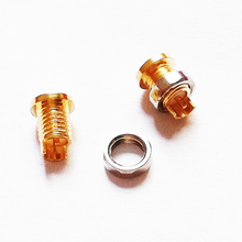 цены 10 pcs Universal pin socket Female seat Built-in thread nut Mmcx pure copper gold plated copper(don't contain the shell)