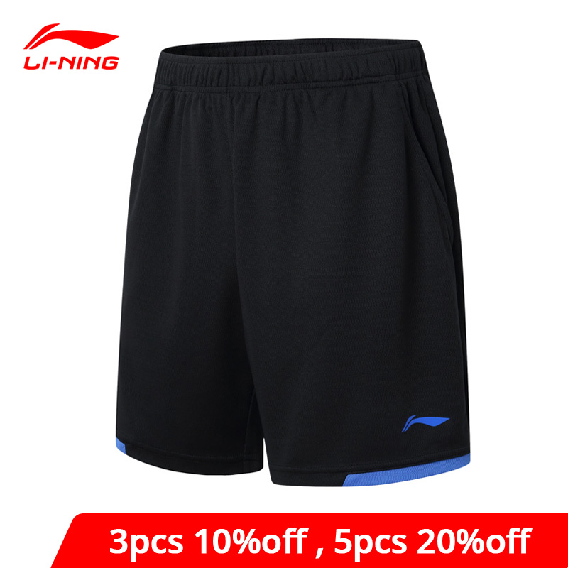 Li-Ning Men Badminton Shorts AT Dry Breathable Competition Bottom 100% Polyester Li Ning LiNing Sports Shorts AAPM143 MKY300