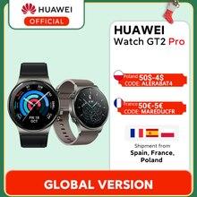 В наличии глобальная версия HUAWEI Watch GT 2 pro SmartWatch 14 дней Срок службы батареи GPS Беспроводная зарядка Kirin A1 GT2 Pro