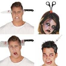 Diadema de Horror para decoración de Halloween, cuchillo escalofriante, accesorios para fiesta de Halloween, suministros para eventos y fiestas