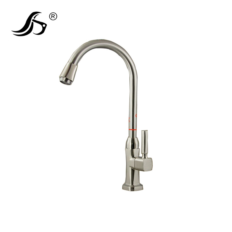 Plumbing Hardware Kitchen Faucet Zinc Alloy Brushed Single Cold Faucet Kitchen Faucet Sanitary Ware Wholesale
