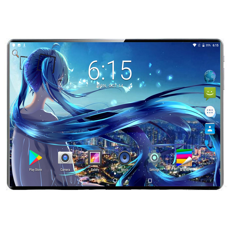 2020 New 10 inch Tablet PC Octa Core 6GB RAM 128GB ROM Dual SIM Cards 3G 4G LTE Android 9.0 GPS WIFI <font><b>MTK8752</b></font> 1280x800 IPS Tablet image