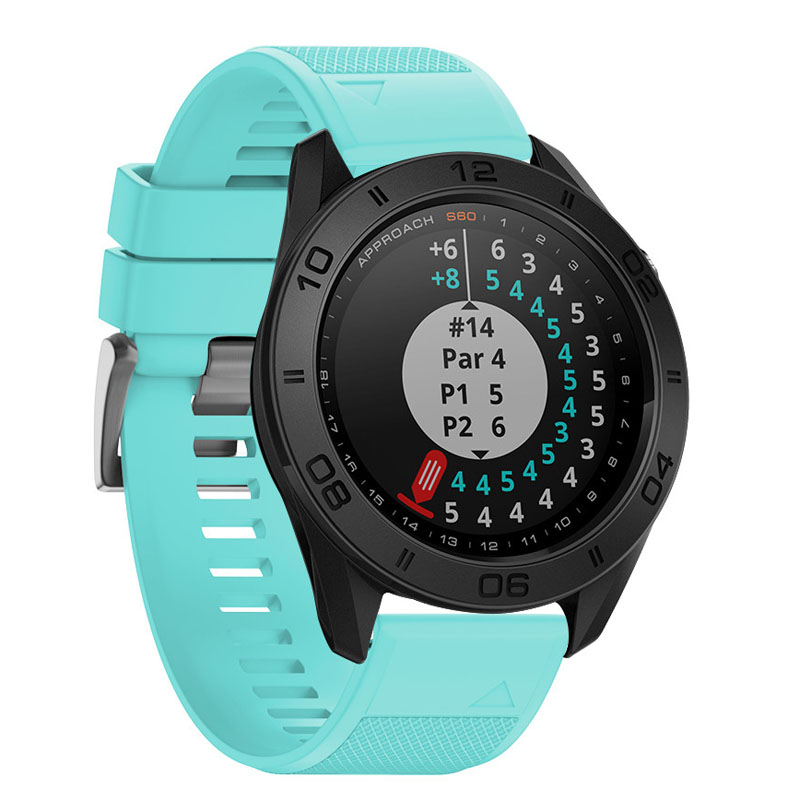 22mm Quick Release Easy Fit Silicone Replacement Watch Strap For Garmin Fenix 5 Forerunner 935 Approach S60 OUJ99 in Smart Accessories from Consumer Electronics