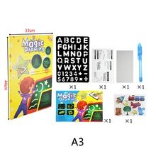 1PCS A4 A5 LED Luminous Drawing Board Graffiti Doodle Tablet Magic Draw With Light-Fun Fluorescent Pen Educational Toy