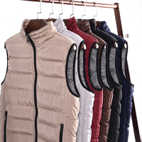 2018 Casual Vest Men Winter Sleeveless Jackets Male New Fashion Style Solid Waistcoat Men's Autumn Warm Outwear Plus Size