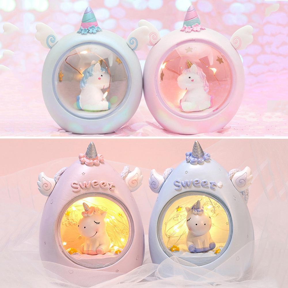 Unicorn LED Novetly Light For Children Baby Kids Bedside Lamp Children Toy Animal Bedroom Decor Lighting Birthday Gift
