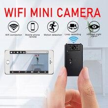 Mini câmera sem fio inteligente wifi câmera ip hotspot hd visão noturna vídeo micro pequeno ip cam detecção de movimento vlog espia