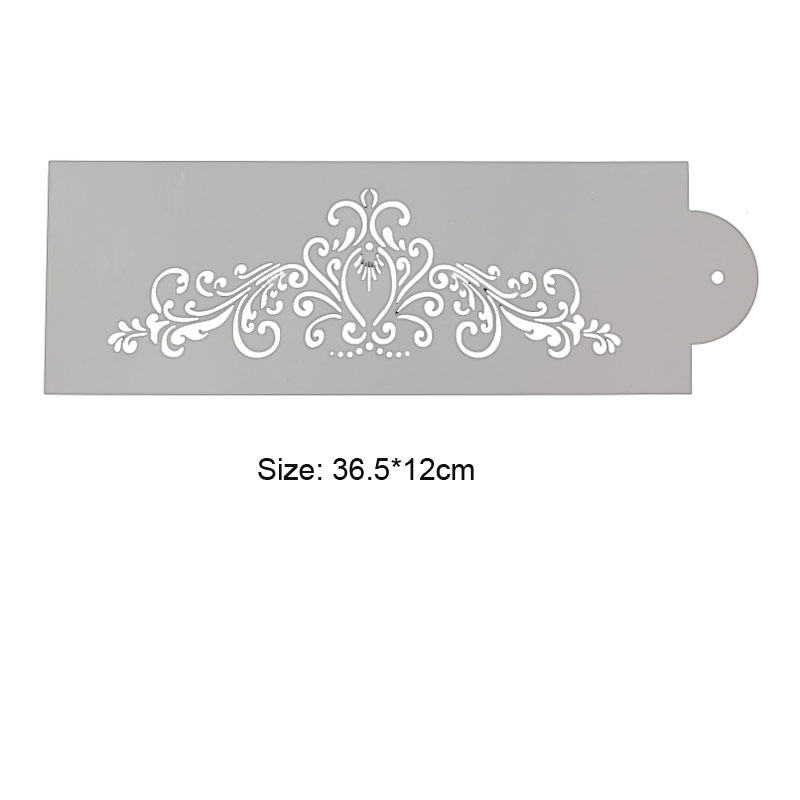 1pc Stencils Lace Decoration Painting Template DIY Scrapbook Coloring Diary Doodle Baking Tools Reusable Office School Supplies