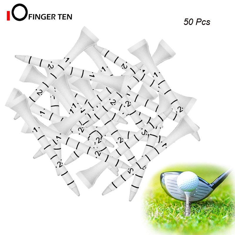 50pcs Professional Hard Wood 70mm 83mm Golf Tees White With Lines Height Indication For Men Women