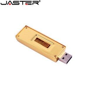 Image 3 - JASTER gold bullion Model USB 2.0 pamięć usb złoty pasek Pen Drive 4GB 8GB 16GB 32GB 64GB metalowy dysk przenośny prezenty