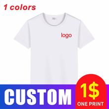 Ucuz saf pamuk erkek tişört beyaz kısa kollu üst rahat ve nefes yuvarlak boyun dibe gömlek satılık
