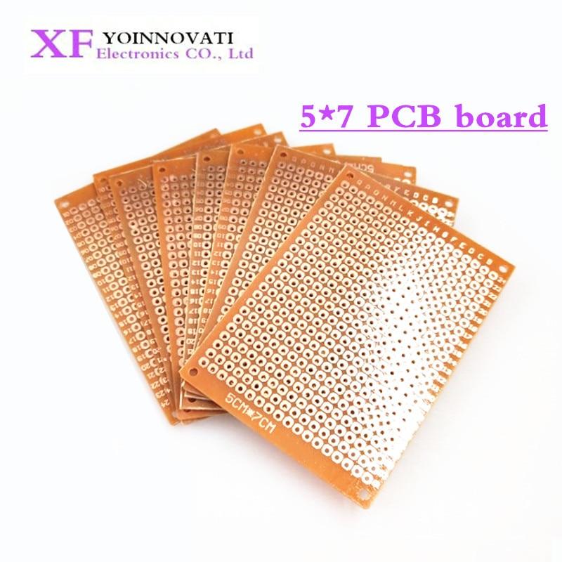 Universal Circuit-Board Matrix Prototype-Paper Copper Pcb 10pcs Experiment 5x7cm 5--7cm