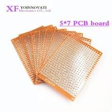10 pces 5*7cm pcb protótipo de papel cobre pcb 5*7 universal experimento matriz placa de circuito 5x7cm