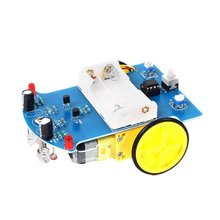 цена на D2-1 Intelligent Tracking Line Follower Sensor Obstacle Avoidance Module For Arduino Reflectance Optical Switch Robot Car Model