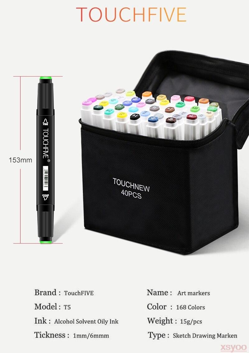desenho marcadores escova caneta álcool baseado duplo